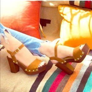 🎀 Super Cute Brown Platform Sandals 👡